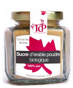 sucre d'érable bio terre de pépites